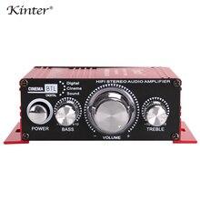 Kinter MA-170  Hi-fi stereo sound amplifier audio DC12V 20W 2.0CH DVD CD input Red mini aluminum enclosure control bass treble
