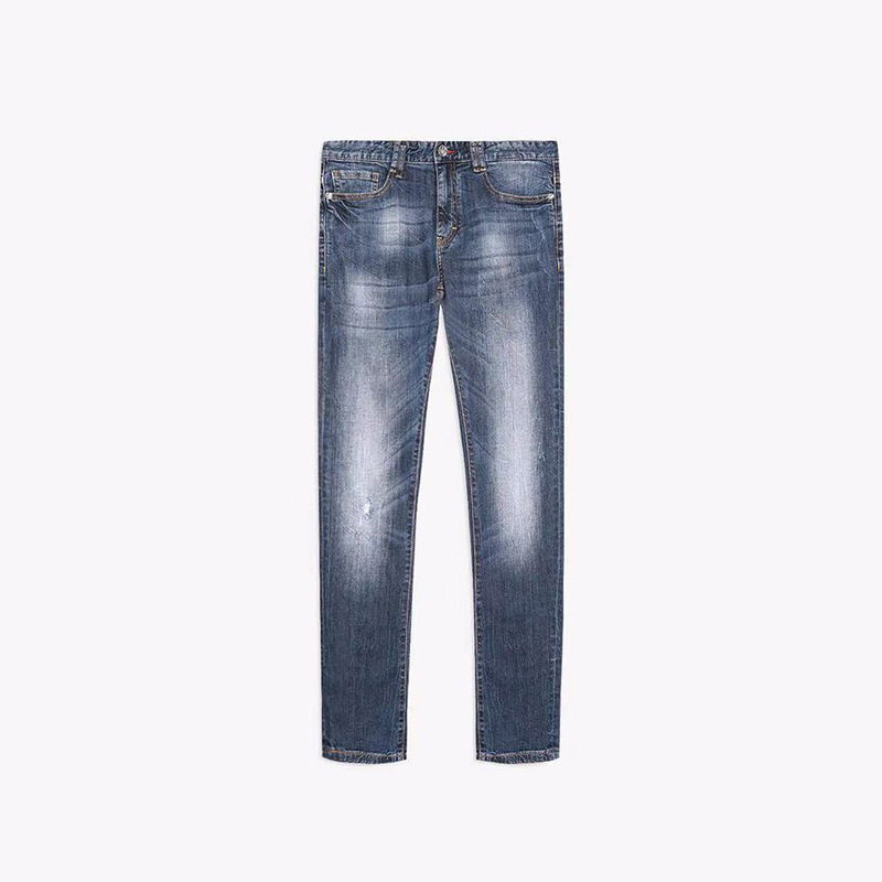 Goldberg Slim Fit Jeans Men's 2019 Spring Hot Selling Simplicity Soft And Comfortable Medium Waist Micro Elastic Cowboy Trousers