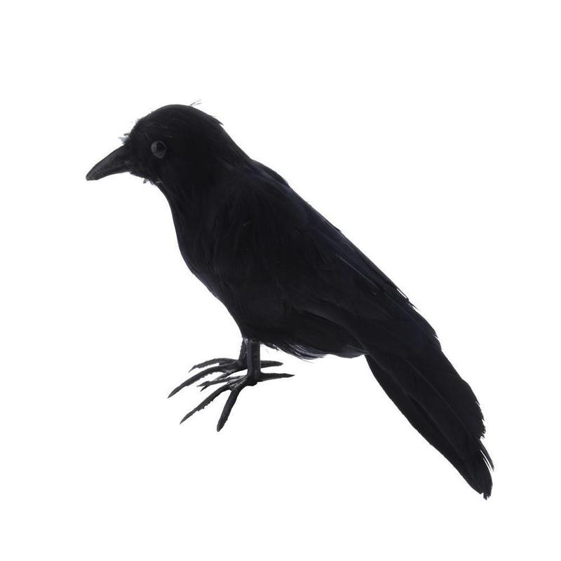 Halloween Artificial Black Crow Gardening Outdoor Drive Birds Tool Party Prank Props Window DIY Decor Bar Ornament Supplies
