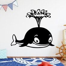 Diy arte pequena baleia vinil adesivo de parede decoração de casa stikers removível adesivo de parede decoração de casa papel de parede cartazes