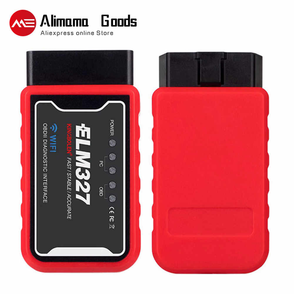 ELM327 Auto Scanner Code Reader WiFi Bluetooth V1.5 PIC18F25K80 Chip OBDII Diagnostic Tool IPhone/Android/PC ELM 327 V 1.5 ICAR2