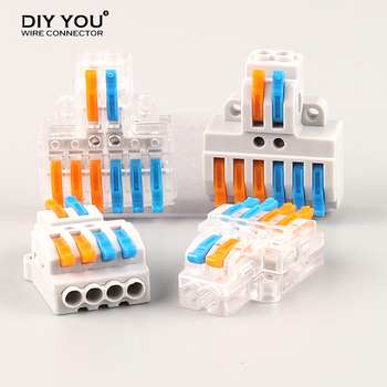 цена на 5/10/30/50/100Pcs Quick Wire Connector SPL type 42/62 Cable Connector Push-in Universal Splitter Wiring Conductor Terminal Block