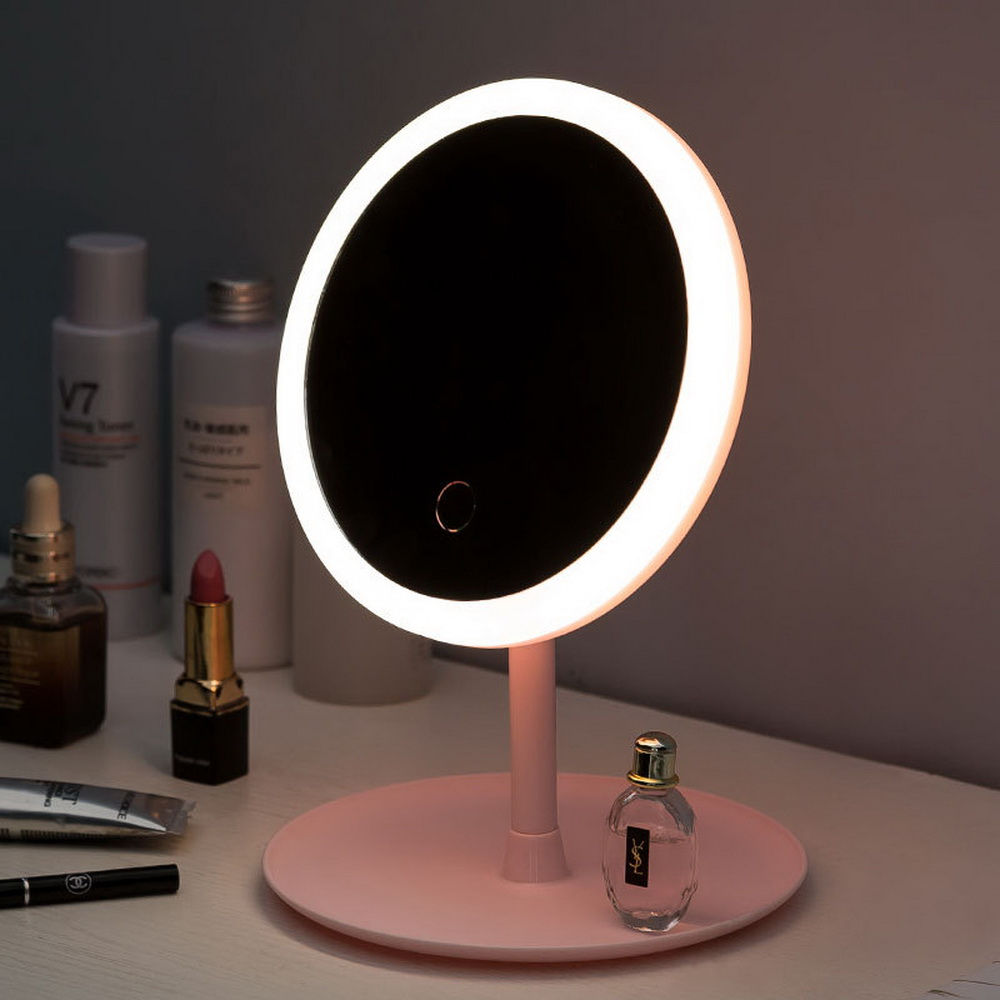 LED Makeup Light With Equipped   Makeup Mirror Magnifying Vanity  Mirror Detachable/Storage Base 3 Modes Beauty  Light Mirror