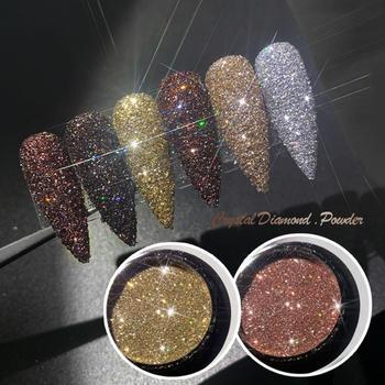 6 kolorów holograficzny paznokci brokat Quicksand proszek do paznokci brokat Holo akrylowe brokat zdobienie paznokci dekoracje Shimmer Pigment TSLM1 tanie i dobre opinie CN (pochodzenie) 1Pcs Nail Powder Nail Glitter