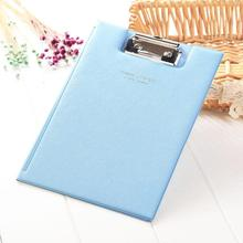 1PC A5 Waterproof Clipboard Writing Pad File Folder Document Holder Office Accessories School Stationery SupplIes ezone cartoon a4 print clipboard kawaii clip paper writing pad candy color file folder school office stationery clip supplies