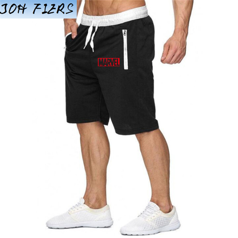 New Fashion Men Sporting Beaching Shorts Trousers Bodybuilding Sweatpants Marvel Short Jogger Casual Men Big Size Shorts