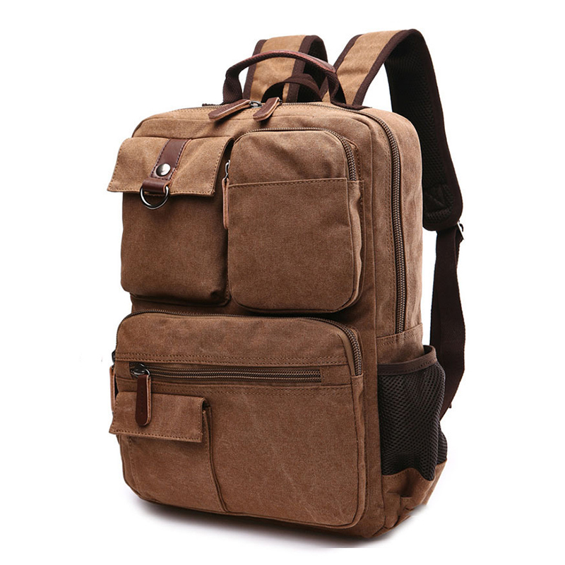 13.3 14.1 15.6 Inch Laptop Canvas Backpack For Men Women Notebook Bag For Macbook Pro 13 Acer Hp Dell Xiaomi Large Capacity