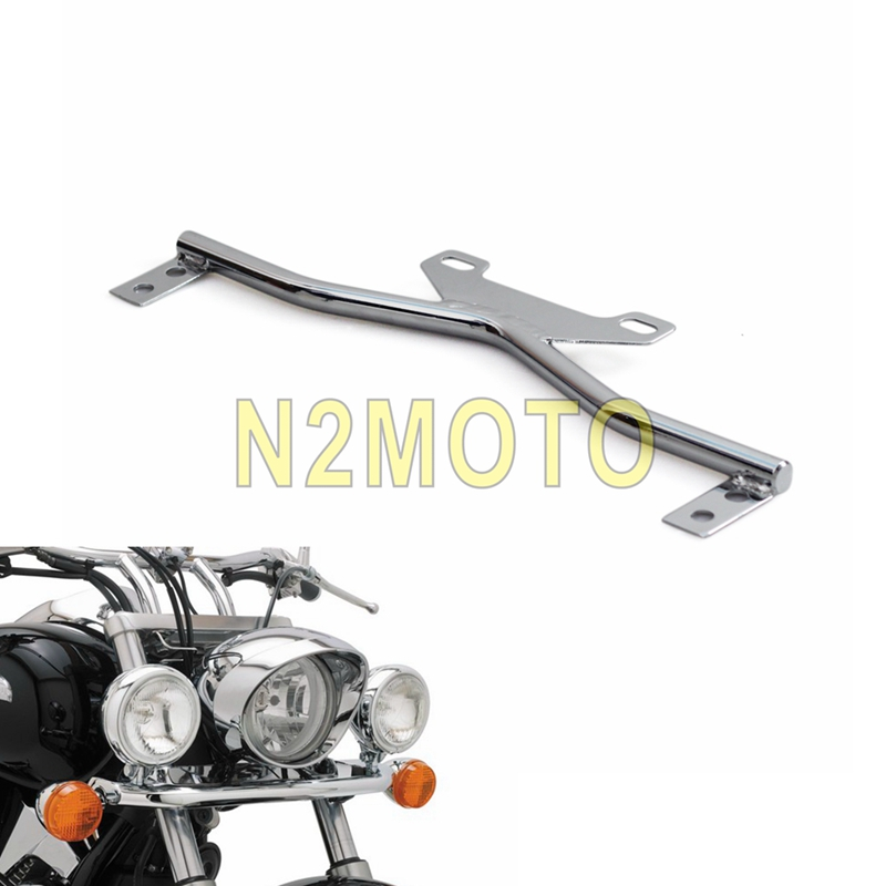 Motorcycles Chrome Universal Headlight Spotlight Bar Bracket Turn Signal Mount Clamp For Harley Honda Kawasaki Suzuki Custom