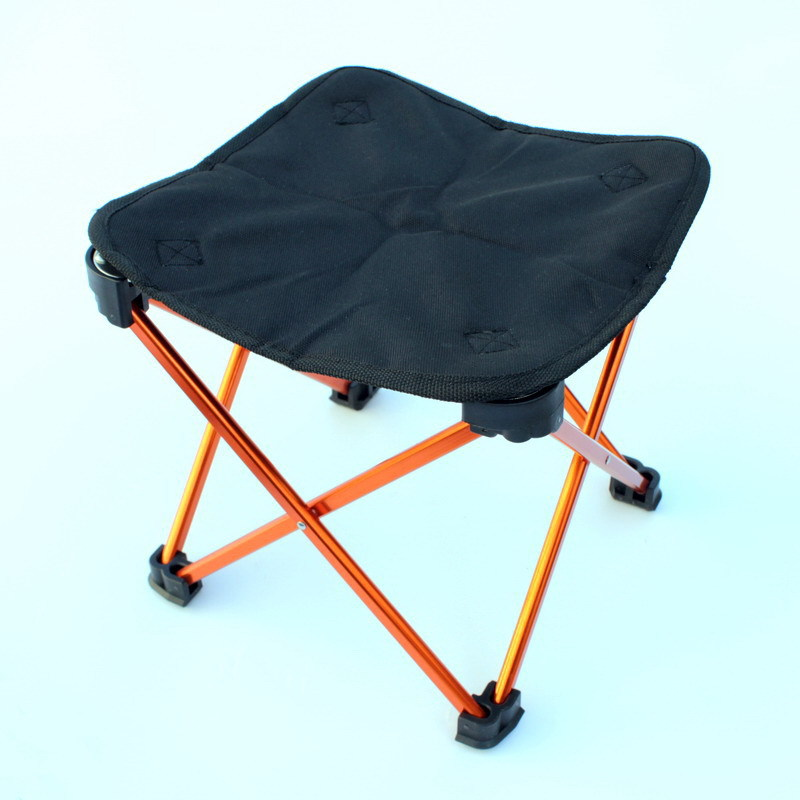 Ultra-Light Portable Thick Folding Stool Outdoor Folding Chair Sit Camp Chair Aluminium Alloy Fishing Sketch Chair