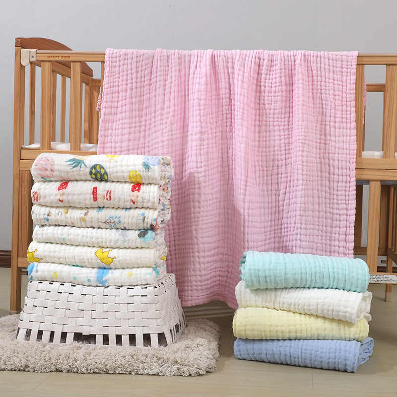 Baby Blankets Newborn Cotton Winter Baby Muslin Squares Baby Bath Towel Muslin Blanket Swaddling Size 110*110cm