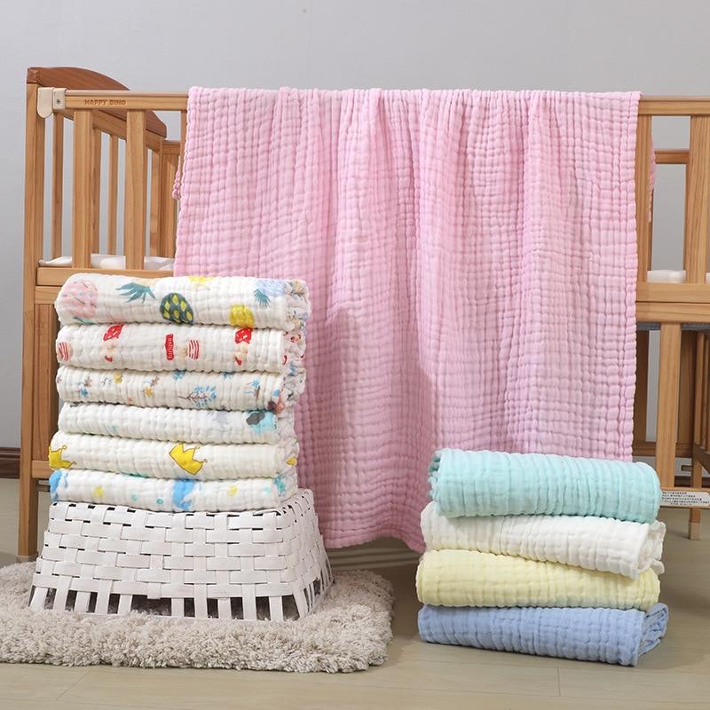 Baby Blankets Newborn Cotton Winter Baby Muslin Squares Baby Bath Towel Muslin Blanket Swaddling Size 110*110cm