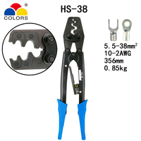 HS 38 crimping plier for non insulated terminals (Point type) Japanese style capacity 5.5 38mm2 10 2AWG electrical tools