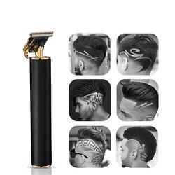 2020 USB ładowania maszynka do włosów nowy zaktualizowany ceramiczne T9 elektryczna maszynka do włosów fryzjer Cordless Clippers strzyżenie