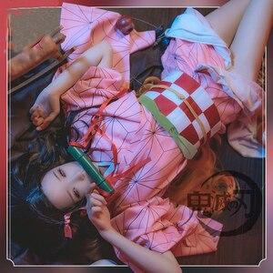 Image 4 - קוטלת שד Kimetsu לא Yaiba קאמאדו Tanjirou Nezuko Zenitsu Tomioka Giyuu Kochou Shinobu Cosplay תלבושות