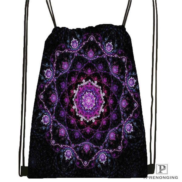 Custom Mandala-Buddhist-@1 Drawstring Backpack Bag For Man Woman Cute Daypack Kids Satchel (Black Back) 31x40cm#20180611-03-144
