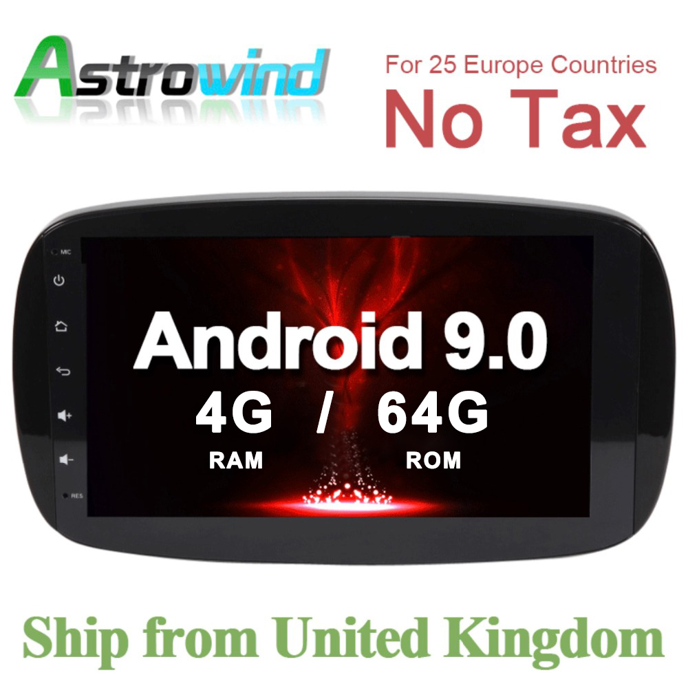 64G ROM Car GPS Navigation System Stereo Media Auto Radio for Mercedes Benz Smart Fortwo C453 A453 W453 2015 2016 2017 2018 JBL
