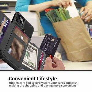 Image 5 - Para o iphone 11 pro x xr xs max caso, wefor cartão de crédito luxo dinheiro carteira kickstand volta caso para iphone 6s 7 8 plus telefone capa