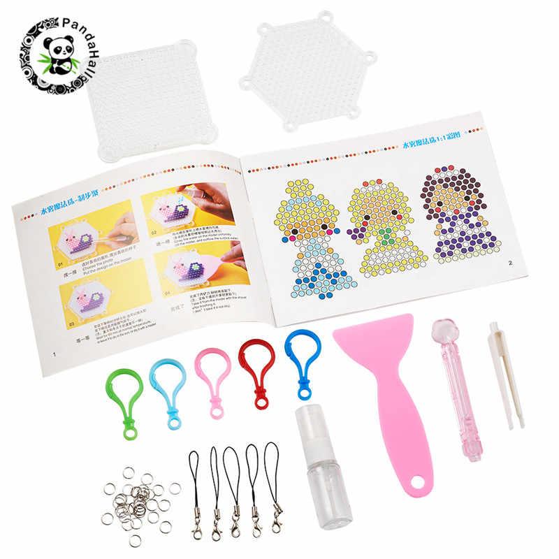 Pandahall 1 Set Puzzle Manual Pegboards Scraper Pisau Pinset Botol Semprot Cincin untuk DIY Kabut Air Magic Manik-manik Alat kit