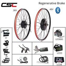 EBIKE Kit di Conversione 20 29 pollici 700C Bicicletta Elettrica Kit di Conversione di 48V 1000W 1500W 36V 250W 500W Motore del Mozzo Anteriore Posteriore Ruota