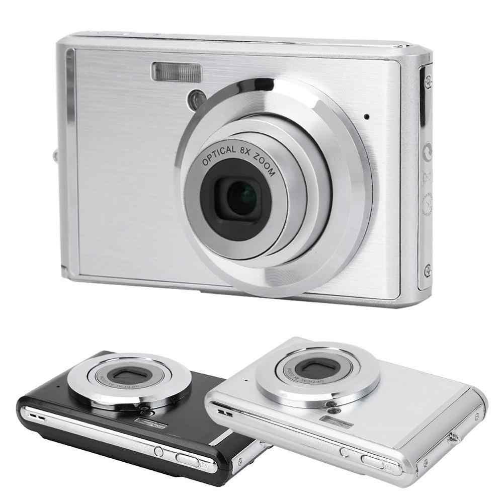 2.4 Cal Mini aparat cyfrowy hd obiektyw teleskopowy ultra-cienki Ultra-kamera hd 8X zoom optyczny wideo 720P 20MP obraz kamera wideo