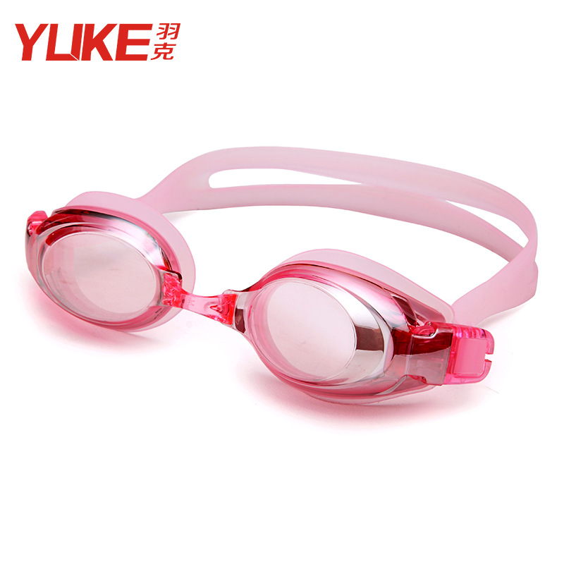 Yuke Genuine Product Women's Prescription Swimming Goggles Adult Electroplated Swimming Glasses Eye-protection Goggles Waterproo