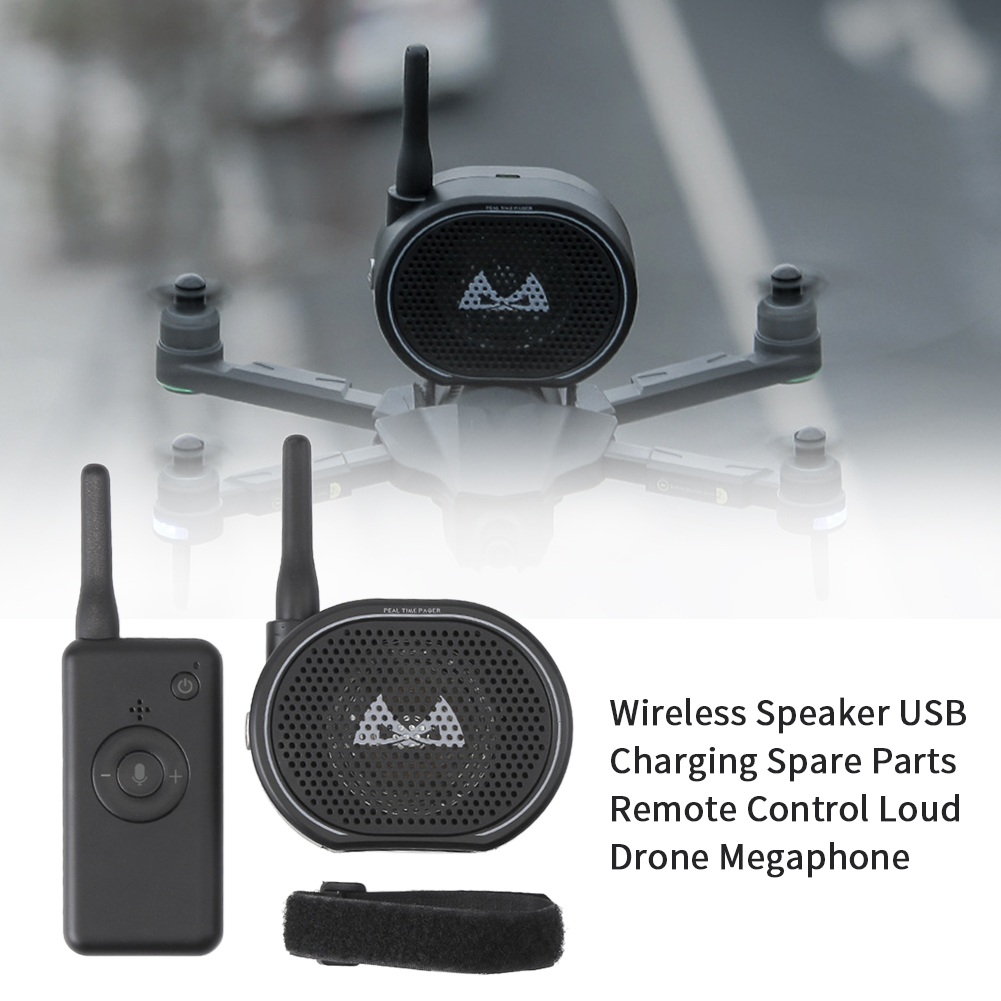 Wireless Speaker Spare Parts Remote Control Drone Megaphone Government Police With Magic Sticker USB Charging Loud Broadcasting