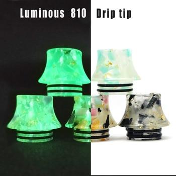 15pcs Luminous 810 Drip Tip for 810 thread tank Vape RBA RDA Atomizer Vape Accessories