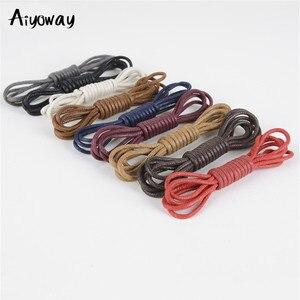 60-160 см круглые Вощеные Цветные шнурки, офисные мужские кожаные шнурки для обуви, женские ботинки, шнурки для спортивной обуви