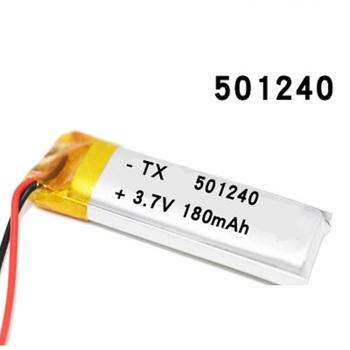 3 7V 180 mAh 501240 akumulator litowo-polimerowy akumulator 501240 Li Po komórki litowe do GPS Bluetooth słuchawki MP3 MP4 051240 tanie i dobre opinie antirr Mp3 mp4 Standardowa bateria