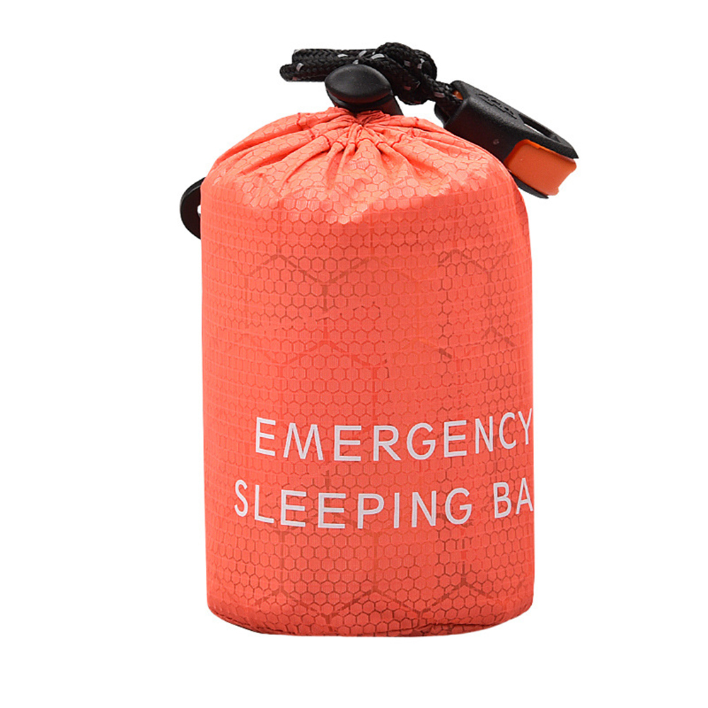 Outdoor Camping Hiking With Whistle Travel Emergency Reusable Waterproof Drawstring Storage Lightweight Small Pouch Sleeping Bag