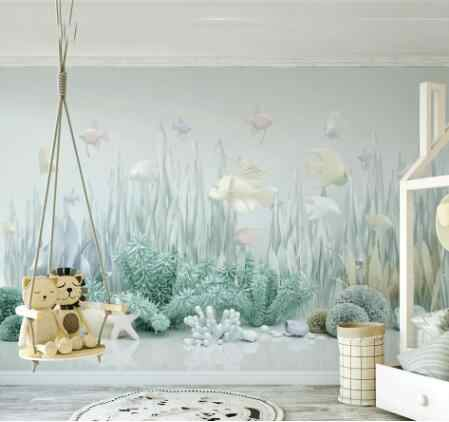 Sea World 3d Catoon Wallpaper For Walls Baby Child Room
