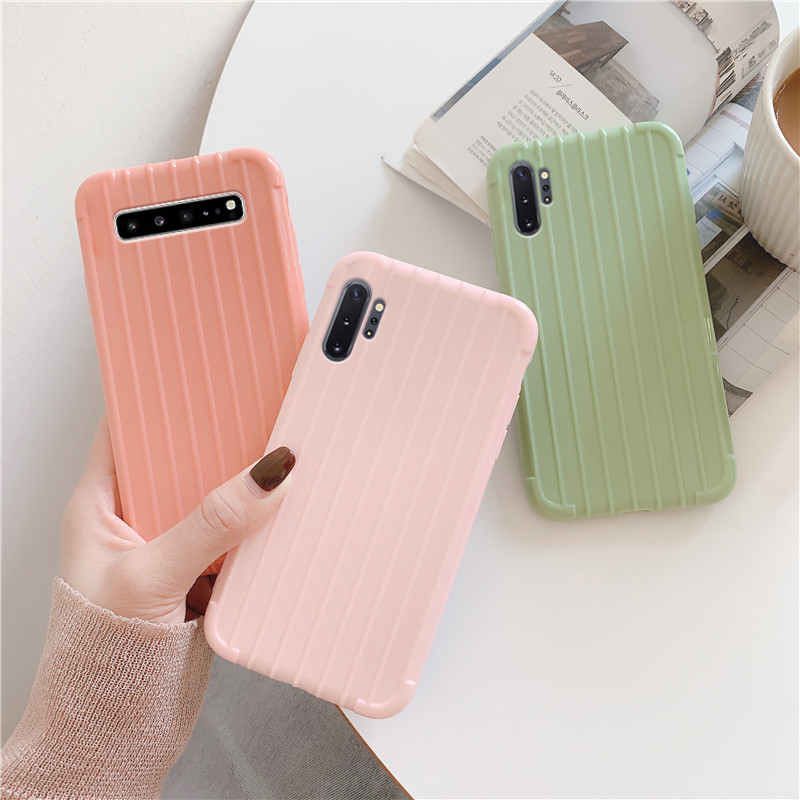 3D Suitcase Case On For Samsung Galaxy Note 10 Pro 9 S10 S10e S9 S8 Plus Soft Tpu Matte Silicon Shockproof Back Cover Funda Capa