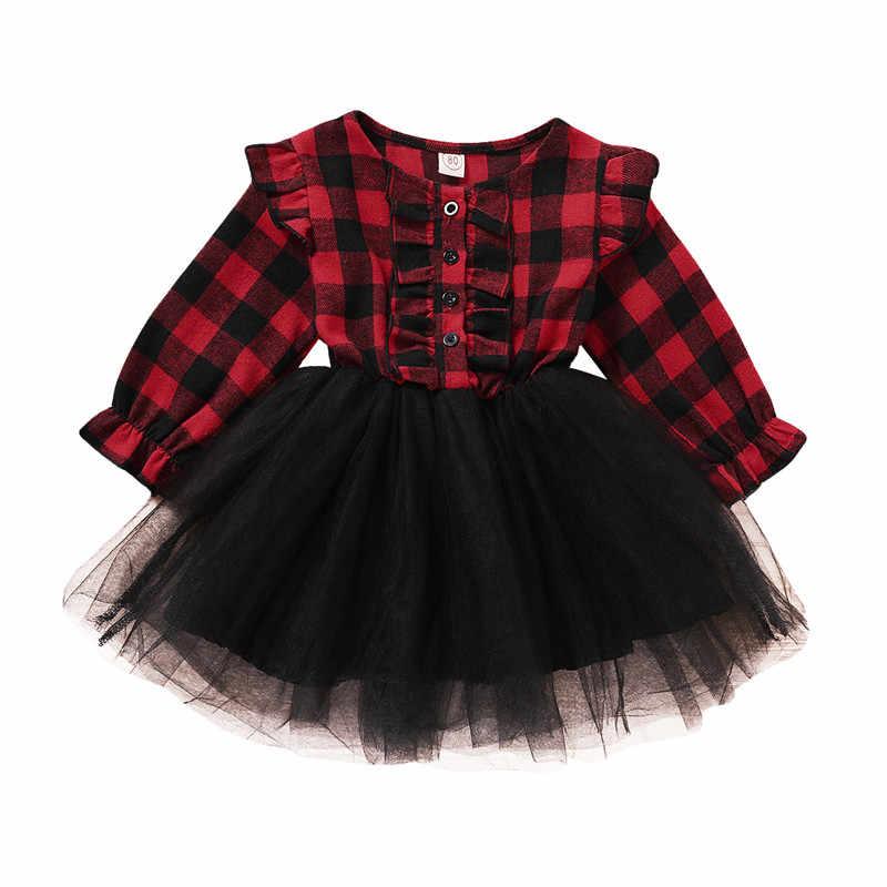Belles Robes D Enfants Pour Les Filles Vetements De Noel Costume De Fete Rouge Plaid Enfants Filles Robe En Dentelle 1 5y Aliexpress