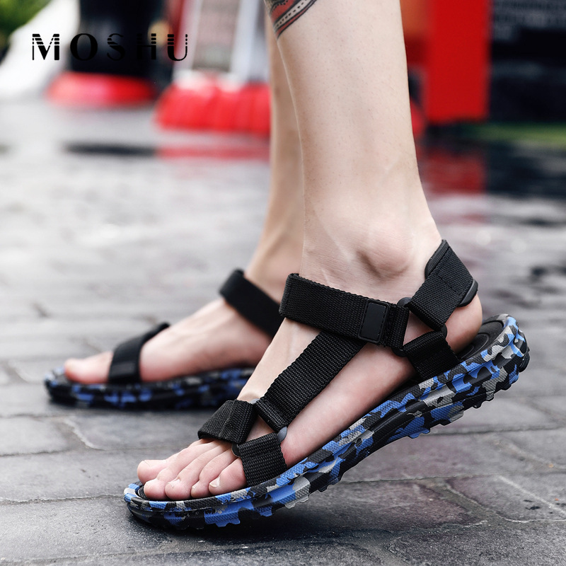 Summer Beach Shoes Men Sandals Male Camouflage Slippers Gladiator Sport Water Flip Flops Sandalia Masculina Zapatos De Hombre