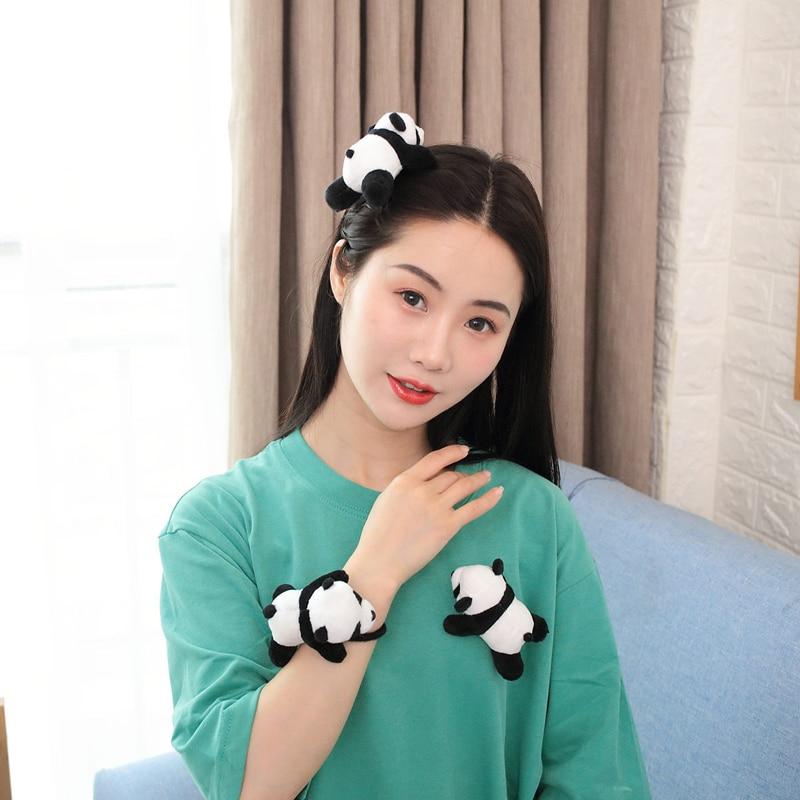 Kawaii Panda Plush Toy Brooch Hairpin Girl Gift Home Decoration Children Gift Cheap Toys