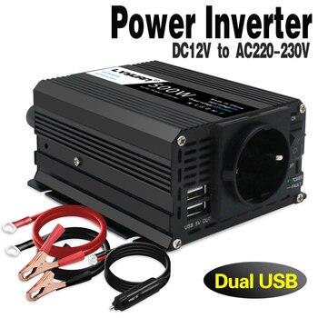 500W/1000W Car Power Inverter Converter DC 12V to AC 220V Modified Sine Wave Power with USB 5V Output Car Styling&car Charger 1200w dc 12v to ac 220v car power inverter charger converter for electronic new