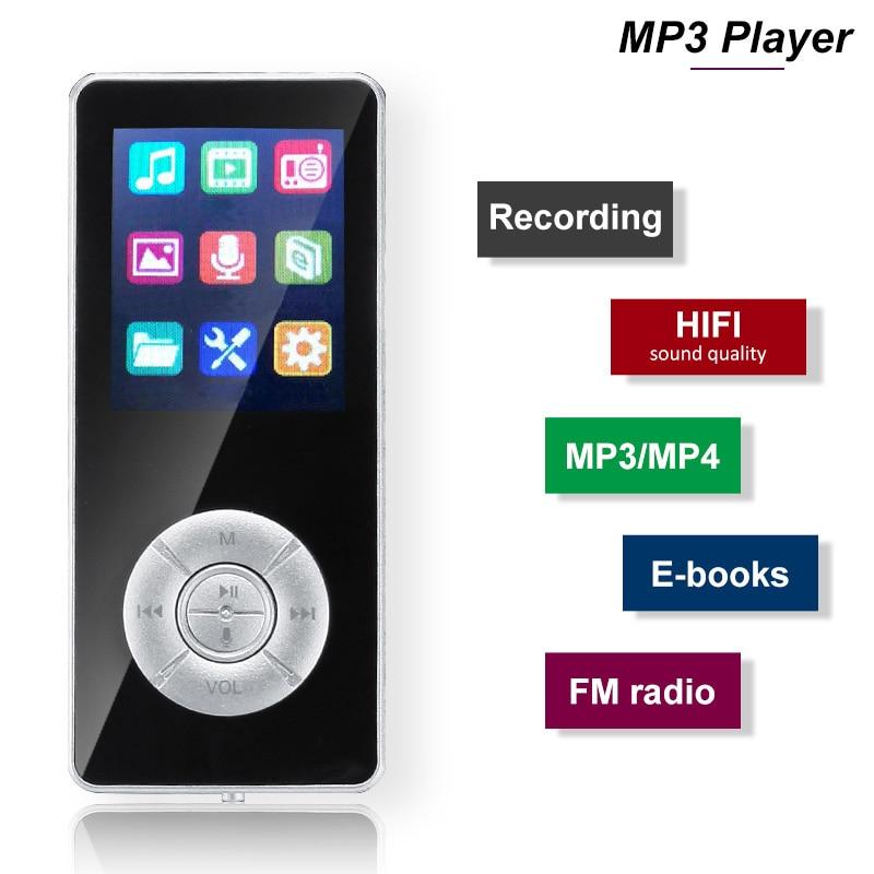 LEORY MP3 Player Bluetooth Portable Audio 32GB Speakers Music Player Media E-Book Radio Recorder HIFI Sport Music Walkman