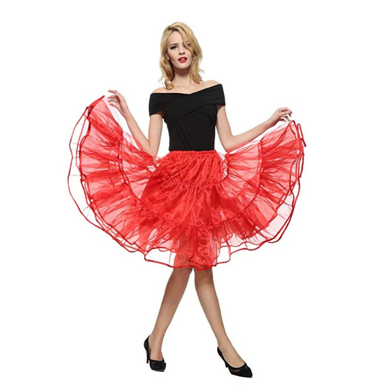 Black Red Or White Lolita Petticoats Girl Woman Short Underskirt Crinoline Petit Coat Peticoat Pettycoat Very Pretty