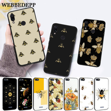 WEBBEDEPP Cartoon animal bee Silicone Case for Xiaomi Redmi Note 4X 5 6 7 Pro 5A  Prime