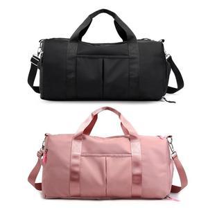 Nylon Women Men Travel Sports Gym Shoulder Bag Large Waterproof Nylon Handbags Black Pink Color Outdoor Sport Bags 2019 New