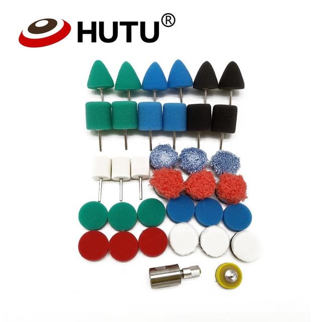 Mini Kit de pulido para decoración de coche, herramientas de extensión para pulir detalles, Kit de almohadillas de pulido para pulidor rotativo