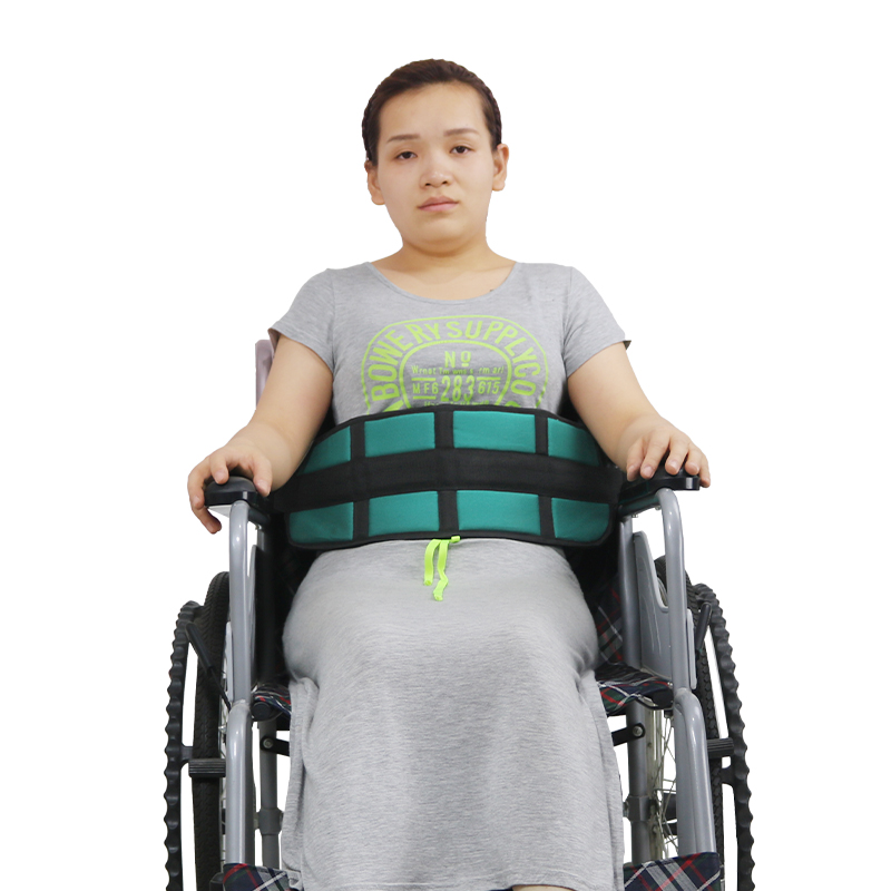 Wheelchair Seat Safty Belt, Patients Cares Restraint Strap, Scooter Seatbelt Harness With Soft Cushion For Elderly (Blue/Black)