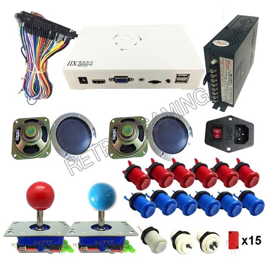 DIY Kit 3D Pandora 3188 в 1 для игры Jamma доска zippy джойстик Гапп Стиль кнопочный переключатель для Аркады Видео игровой автомат