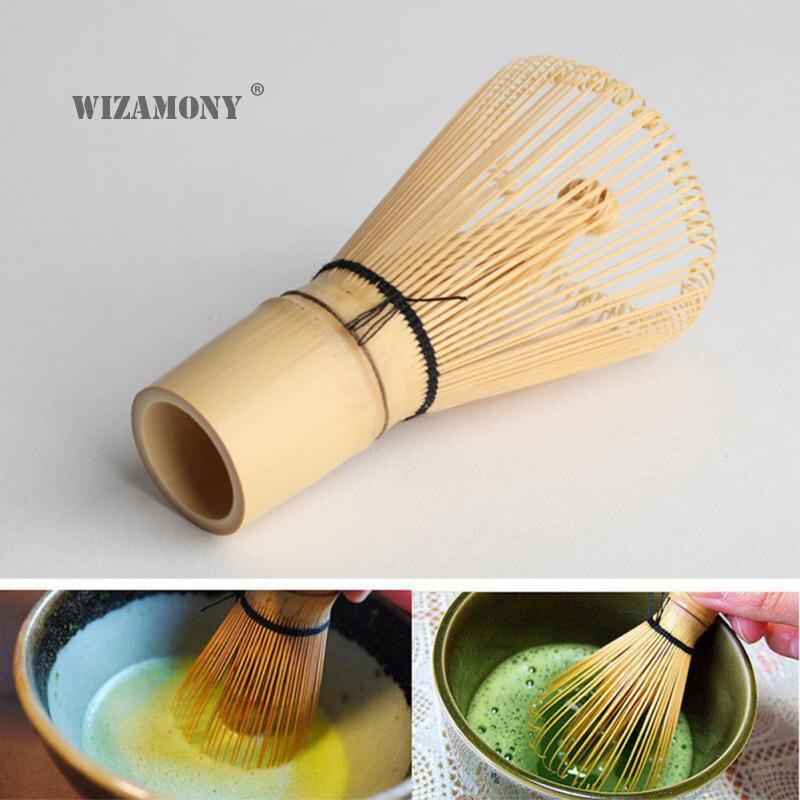 1PCS WIZAMONY ไม้ไผ่สไตล์ญี่ปุ่นผงชาเขียว Matcha แปรง Whisk สีเขียวชาอุปกรณ์เสริมทำด้วยมือ