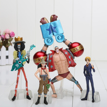 10 pièces/ensemble figurines d'une pièce Anime 2 ans plus tard Luffy Zoro Sanji Usopp Brook Franky Nami Robin Chopper