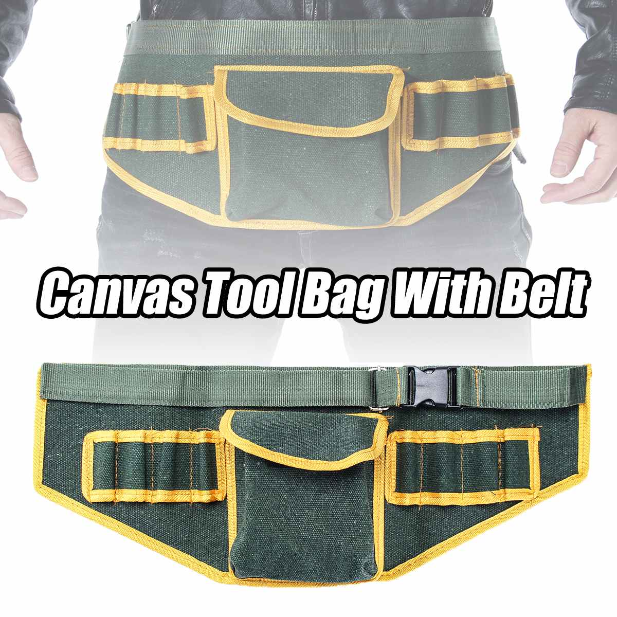 Hardware Electrical Tool Bags Adjustable Waist Belt Tools Pockets Construction Packs Thicker Canvas Bag Without Tool