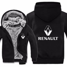Renault Hoodies Hoody Jacket Winter Pullover Mans Unisex Casual Wool Liner Fleece Men Coat Renault Sweatshirts(China)