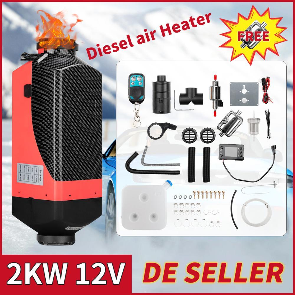 Дизельный Обогреватель воздуха Renoster 2 кВт, 12 В, установка воздушного отопления с дистанционным управлением, ЖК-комплект для автомобиля, груз...
