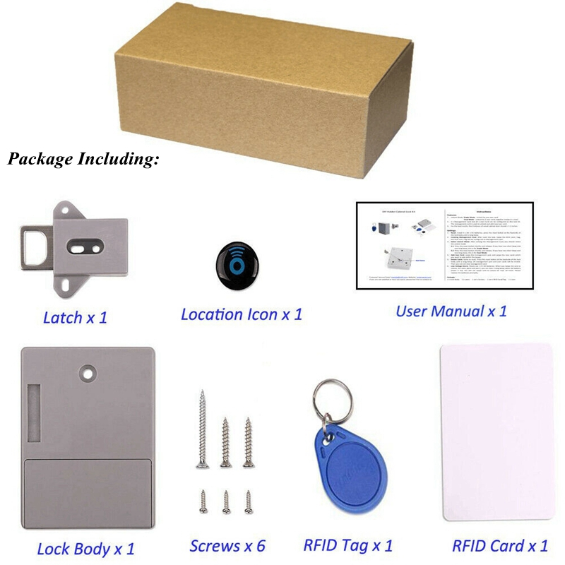 No-Hole Invisible Cabinet Lock 8