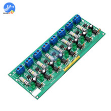 AC 220V MCU TTL Level 8 Channel Optocoupler Isolation Testing Board Isolated Detection Tester Module PLC Processors 8 Channel